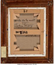 Lot 21169: Gaston Thiery (French, 1922-2013) Pres de la nuit Oil on canvas 10-3/4 x 13-3/4