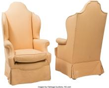Lot 21184: A Pair of William & Mary-Style Upholstered Armchairs, late 19th-20th century 55