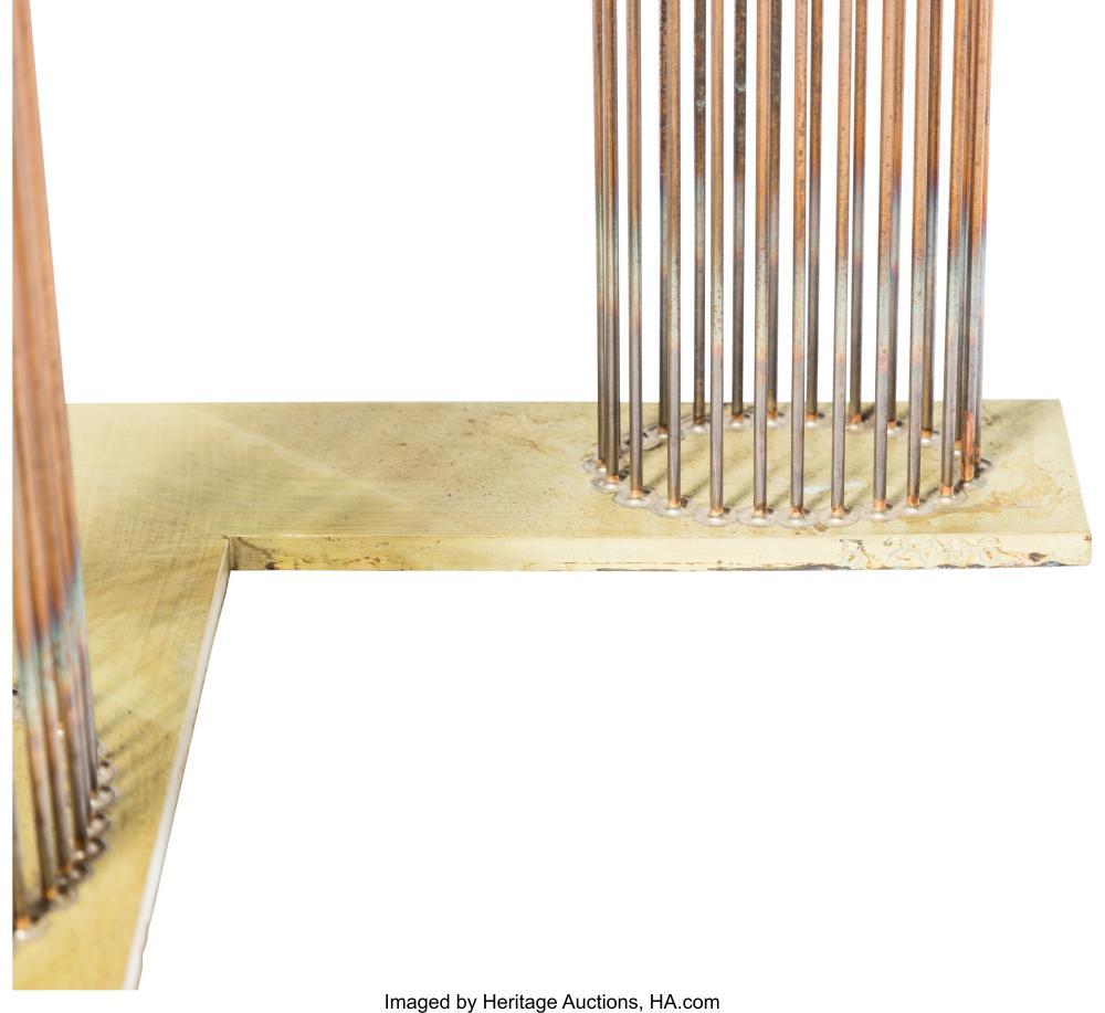 Lot 21212: Val Bertoia (American, b. 1949) B-2086 Beryllium-copper rods silvered to brass 5