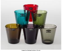 Lot 21203: Kaj Franck (Finnish, 1911-1989) Six Kartio Tumblers, designed in 1958, Nuutajärv