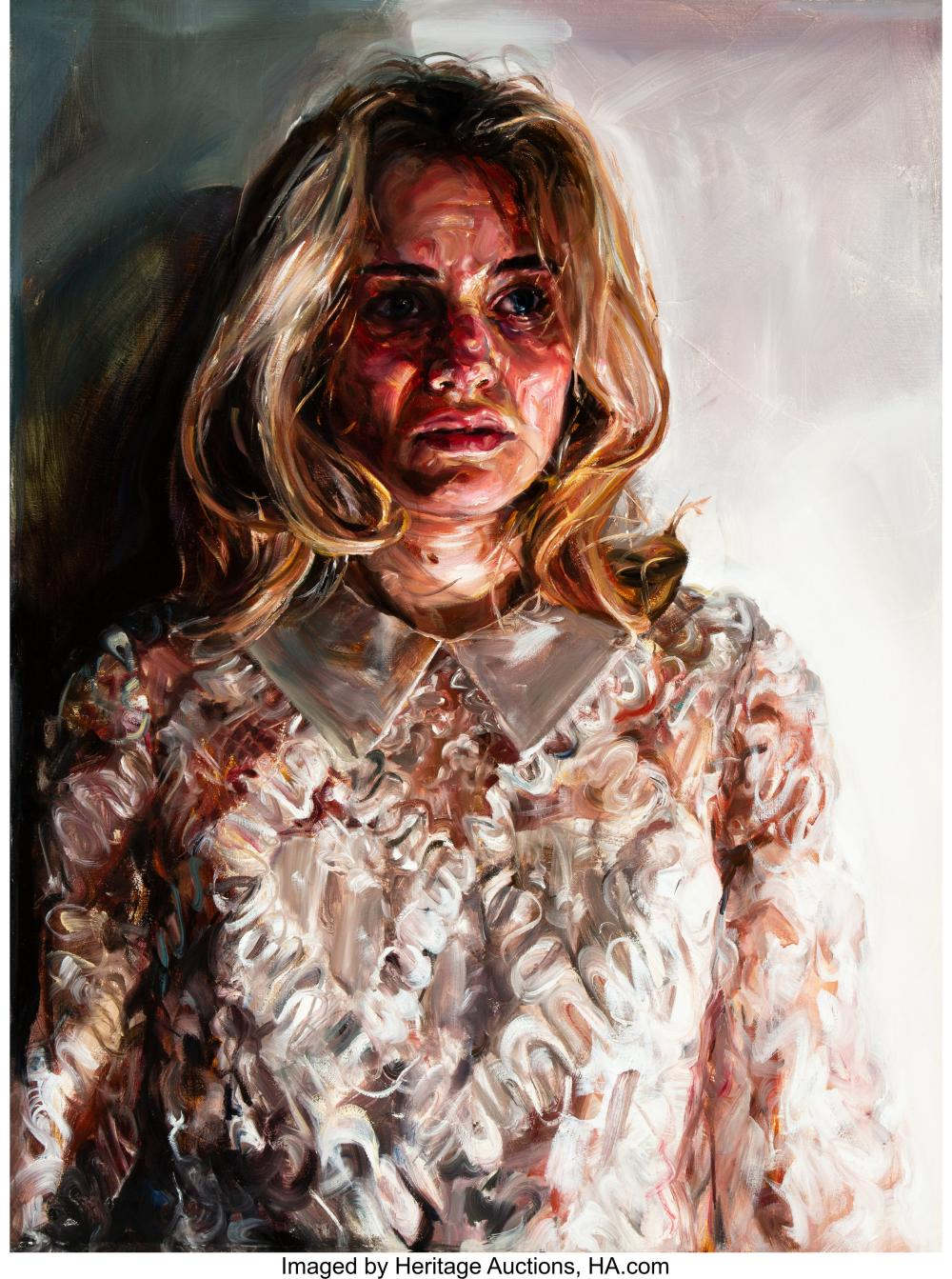 Lot 21218: Natalie Frank (American, 21st Century) Suzanne Oil on canvas 40 x 30 inches (101