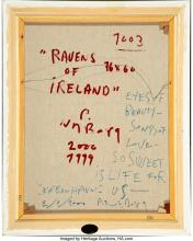 Lot 21210: Peter Nyborg (Danish, 1937) Rauens of Ireland, 1999-2000 Oil on canvas 30 x 23-1