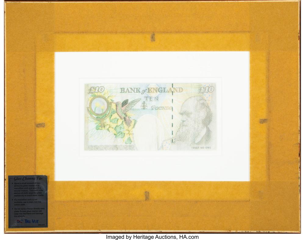 Lot 21213: Banksy X Banksy of England Di-Faced Tenner, 10 GBP Note, 2005 Offset lithographs