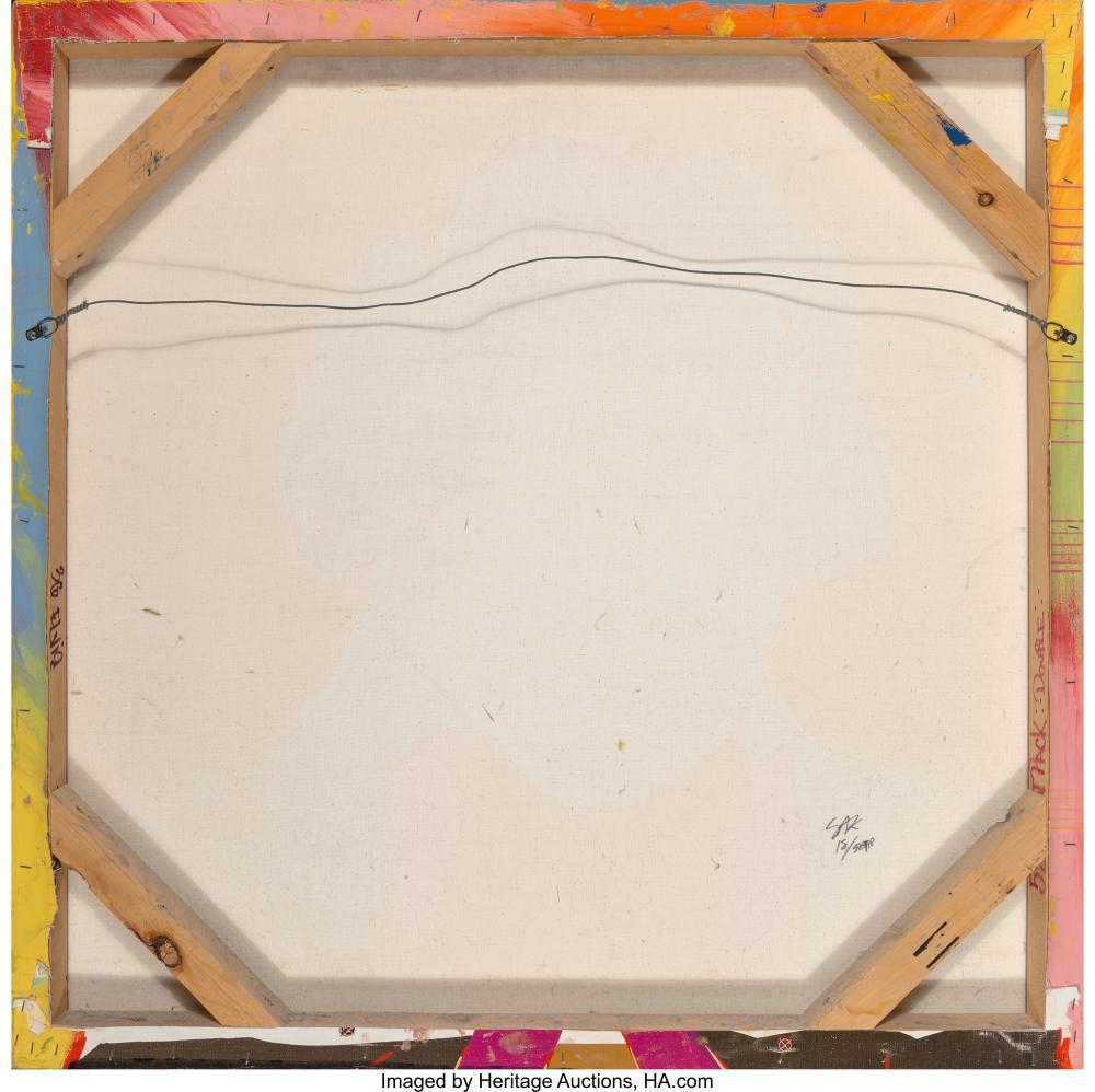 Lot 21231: Steve Kaufman (American, 1960-2010) Beethoven in Blue Screenprint in colors on c