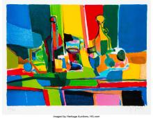 Lot 21223: Marcel Mouly (French, 1918-2008) Nature Morte Lithograph in colors on paper 12 x