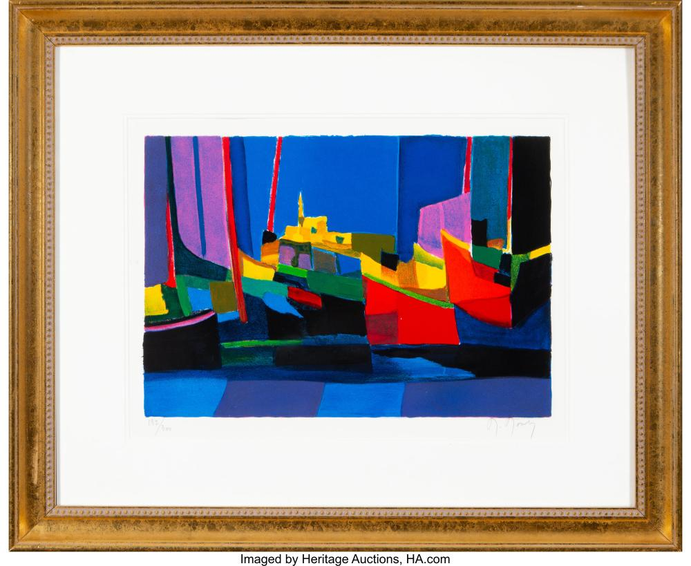 Lot 21222: Marcel Mouly (French, 1918-2008) Untitled Lithograph in colors on paper 12 x 17-