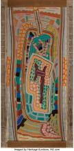 Lot 21228: Peter Krasnow (American, 1890-1979) K-9, 1970 Oil on board 44-1/2 x 20 inches (1