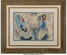 Lot 21237: Charles Ragland Bunnell (American, 1897-1968) Untitled, 1954 Watercolor on paper