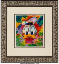Lot 21232: Peter Max (American, b. 1937) Untitled Lithograph and acrylic on paper 15-3/4 x