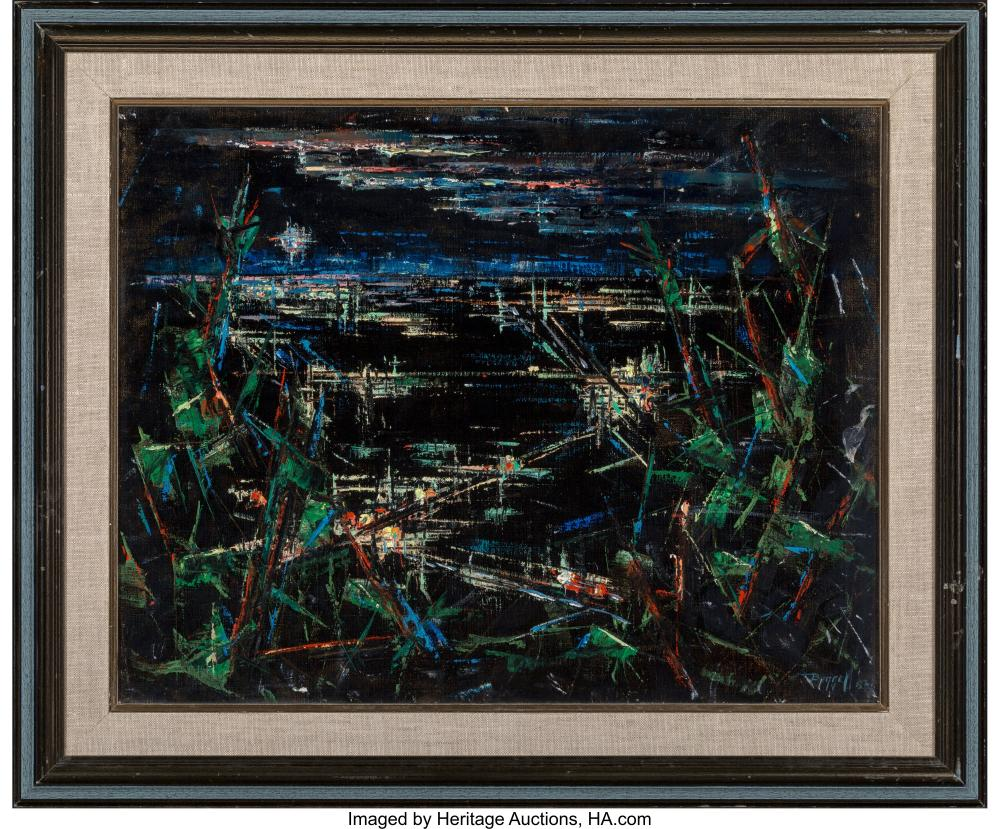 Lot 21238: Charles Ragland Bunnell (American, 1897-1968) San Francisco, 1952 Oil on canvasb