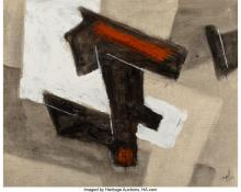 Lot 21239: Charles Ragland Bunnell (American, 1897-1968) Untitled, 1963 Oil on canvasboard