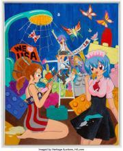 Lot 21242: Mahomi Kunikata (Japanese, 1979) Okonomiyaki- The Show Down Between East and Wes