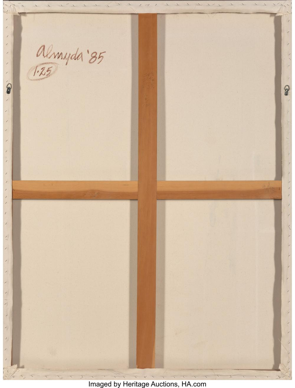 Lot 21247: Joseph Almyda (American, 1927-2011) 1.25, 1985 Acrylic on canvas 72 x 54-1/8 inc