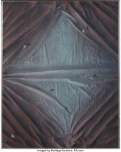 Lot 21248: Attributed to Chad Neff (American, 21st Century) Wrinkle Acrylic on canvasboard