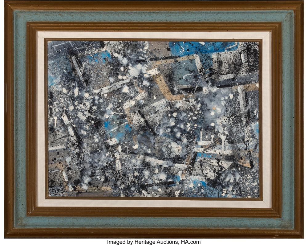 Lot 21241: Charles Ragland Bunnell (American, 1897-1968) Untitled, 1956 Mixed media on Maso