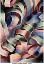 Lot 21246: Ann Baddeley Keister (American, 20th Century) Ribbons Wool Weaving 48 x 70 inche