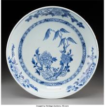 Lot 21272: A Chinese Blue and White Porcelain Dish, Qing dynasty, Kangxi period 1-3/4 x 10-