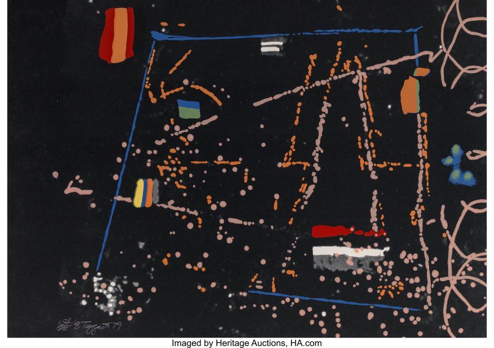 Lot 21330: William Taggart (1936-2007) Unidentified #1 Black Spiral, 1979 Screenprint in co