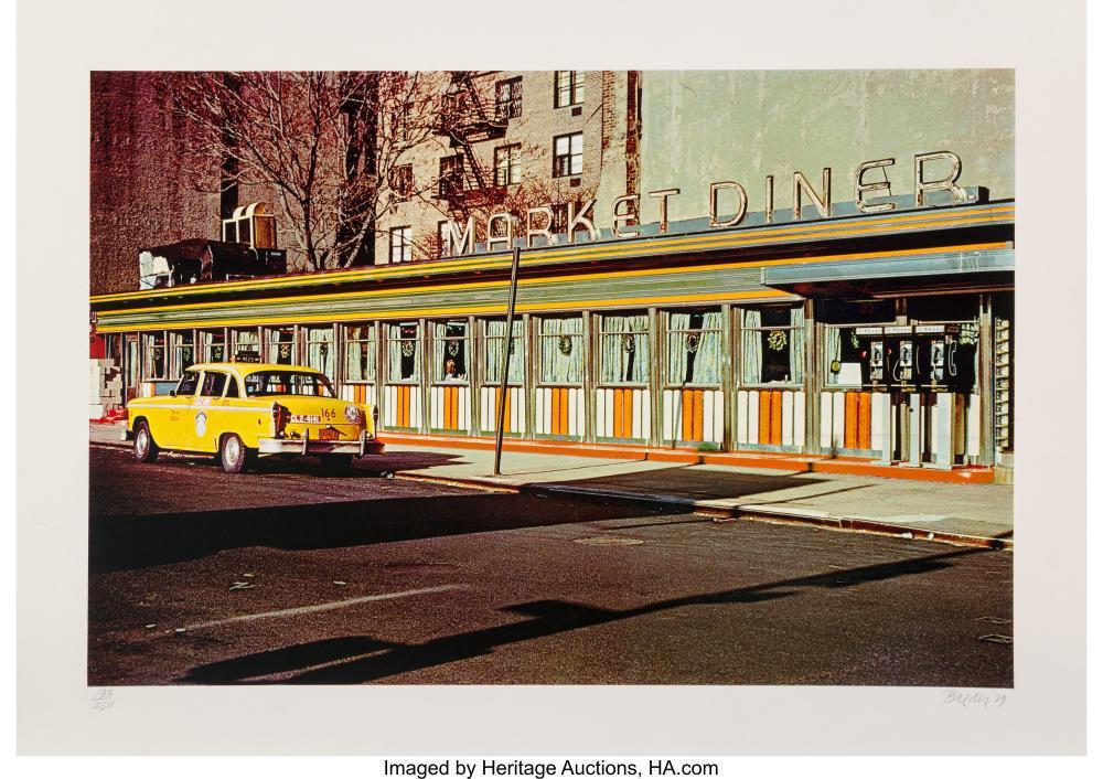 Lot 21329: John Baeder (b. 1938) Market Diner, from the City Scapes Portfolio, 1979 Serigra