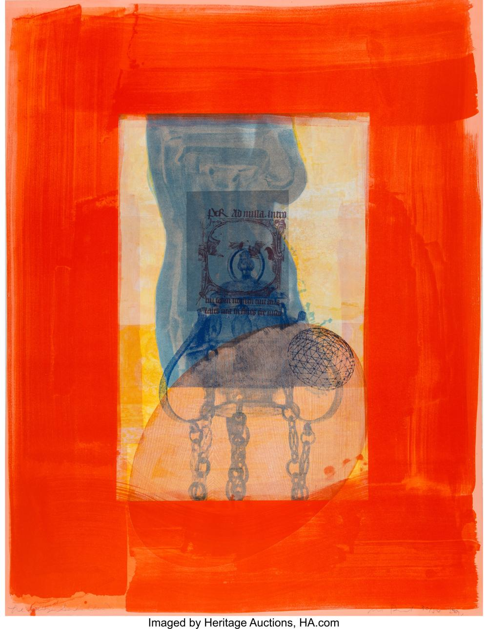 Lot 21326: Michael David (b. 1954) Red, from the Being Series, 1991 Lithograph in colors 4