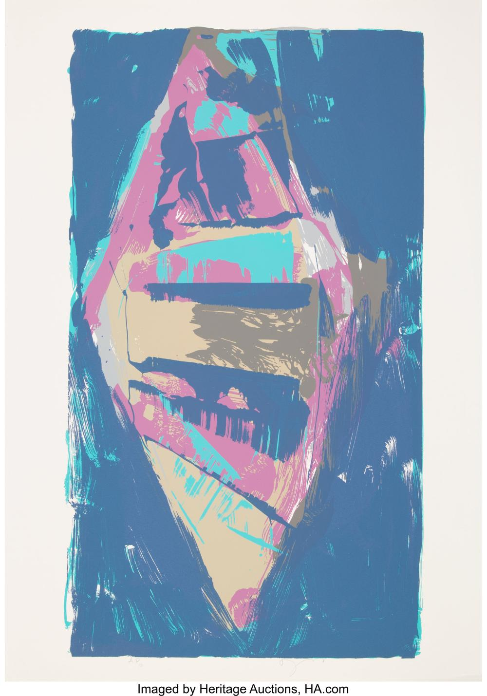 Lot 21323: Darryl Hughto (b. 1943) Starting Over, c. 1982 Serigraph in colors on wove paper