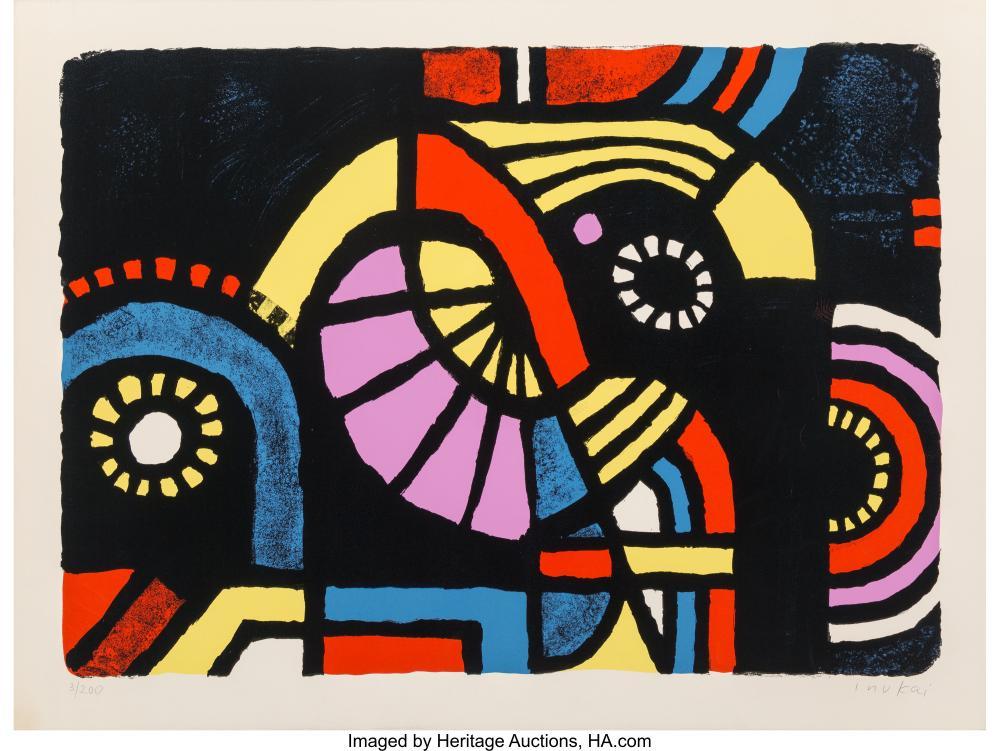 Lot 21334: Kyohei Inukai (1913-1985) Coney Island, 1979 Screenprint in colors on paper 22-1