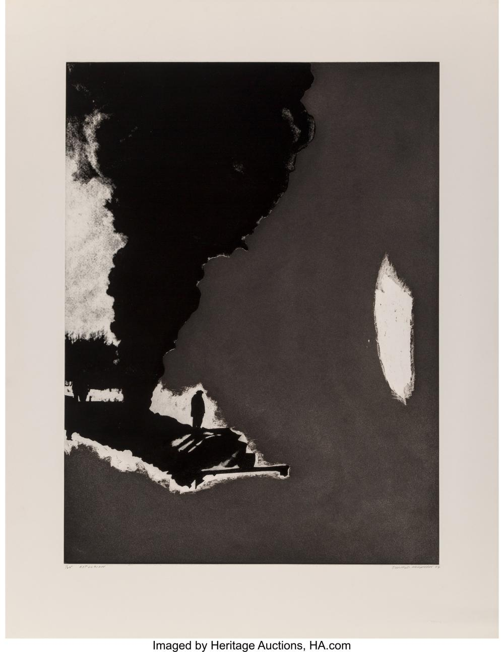 Lot 21333: Donald Newman (20th century) Expulsion, 1982 Etching on paper 37-3/4 x 29-1/2 in