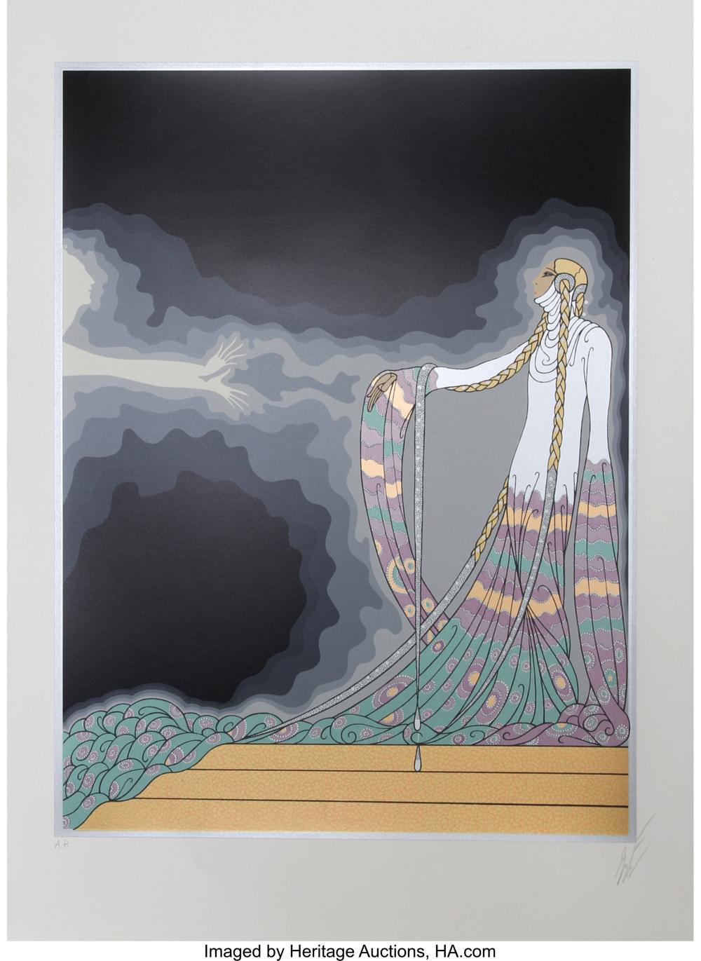 Lot 21342: Erté (Romain de Tirtoff) (1892-1990) Melisande, from At the Theater Suite, 1983