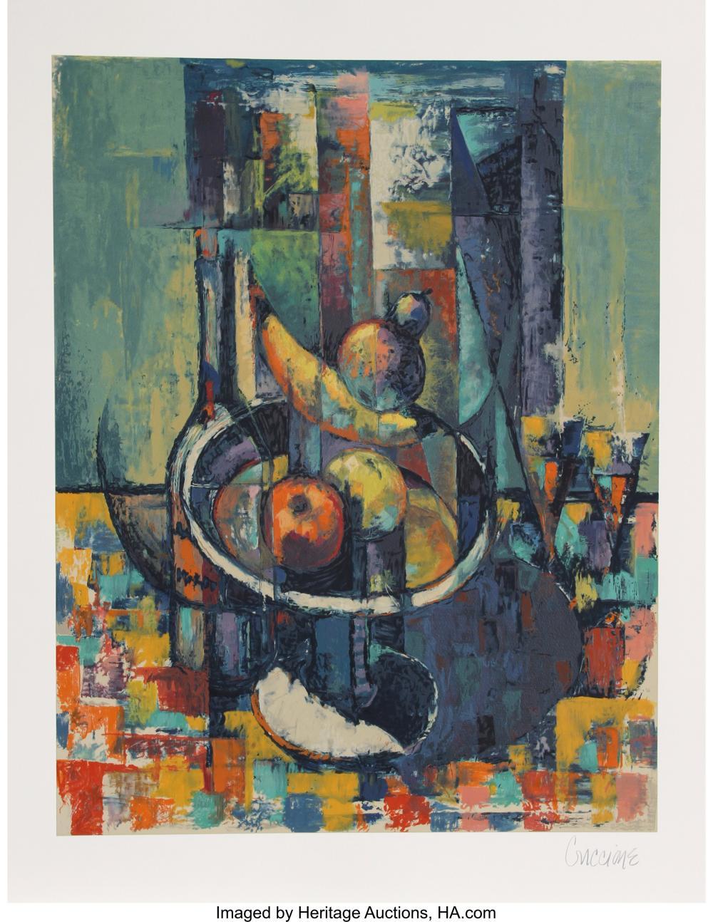 Lot 21343: Bob Guccione (1930-2010) Still Life, 1990 Lithograph in colors on Arches paper 2