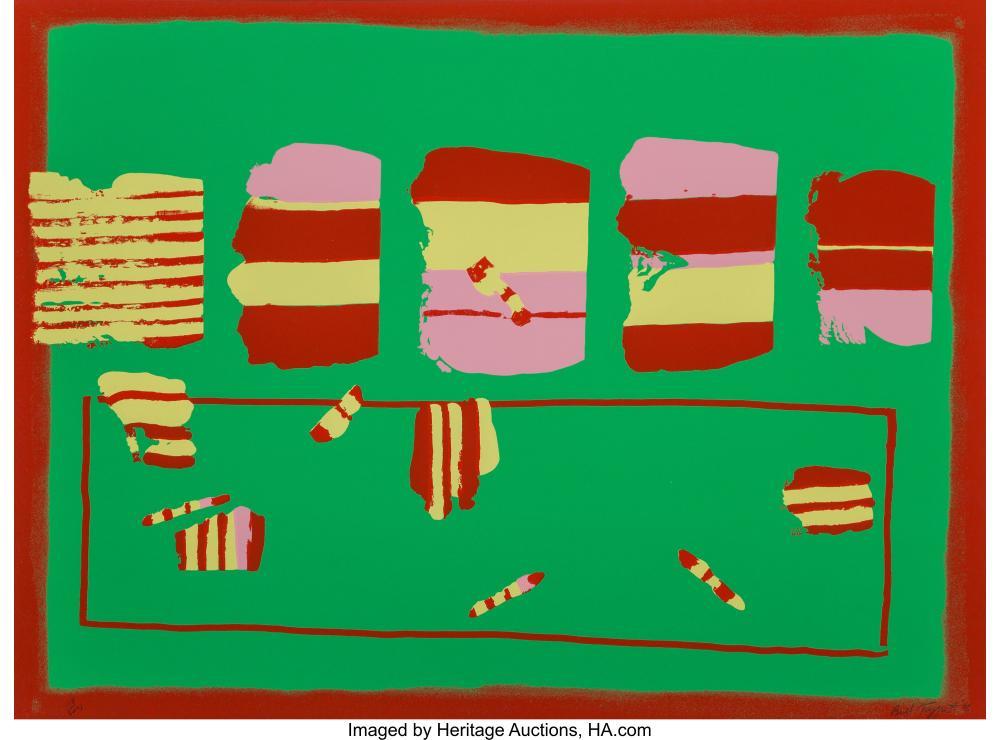 Lot 21350: William Taggart (1936-2007) Mr. Bozzman's Dream, 1978 Screenprint in colors on p