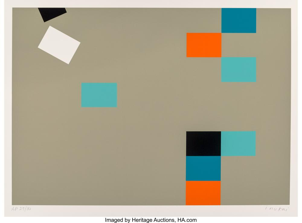 Lot 21347: Kyohei Inukai (1913-1985) Nine Units on Mint, 1978 Screenprint in colors on Arch