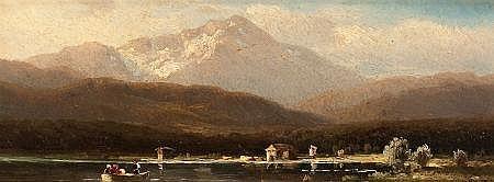HUGO ULLIK (Austrian, 1838-1881) Scenic Views of Lake A
