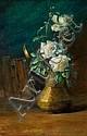 IDA WELLS STROUD (American, 1869-1944) Vase of White Ro