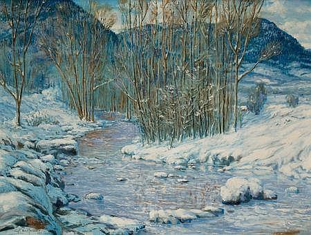 CARL VON HASSLER (American, 1887-1969) Winter Landscape