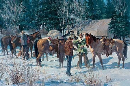 GARY CARTER (American, b. 1939) The Hillgard Hunt, 1975