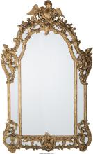 A ROCOCO REVIVAL CARVED AND GILTWOOD FRAMED OVERMANTLE MIRROR , 19TH CENTURY 72