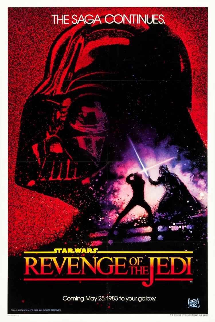 Revenge of the Jedi (20th Century Fox, 1982). One Sheet