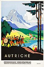 Austria Travel Poster (c.1930s) Poster (25