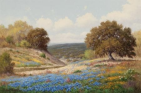 PALMER CHRISMAN (American, 1913-1984) Bluebonnets in Sp