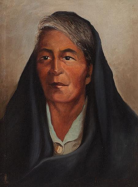 VIVEANO LOPEZ (American, 1906-1983) Grandmother Oil on