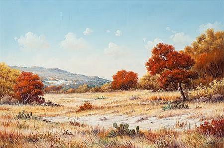 J.W. THRASHER (American, b. 1940) Autumn Landscape Oil