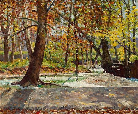 REID CROWELL (American, 1911-1991) Texas Landscape Oil