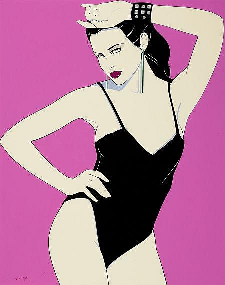 PATRICK NAGEL (American, 1945-1984) Playboy Pin-Up, Jul