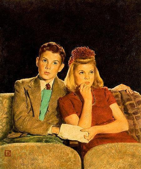DOUGLASS CROCKWELL (American, 1904-1968) Saturday Eveni