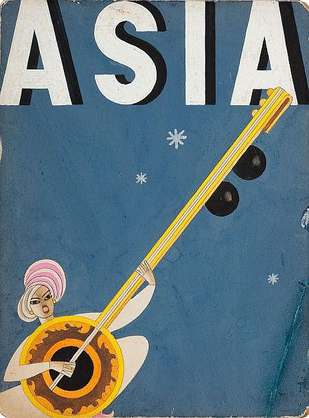 FRANK MCINTOSH (American, b. 1901) Asia magazine cover,