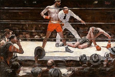 BENTON HENDERSON CLARK (American, 1895-1964) The Knock