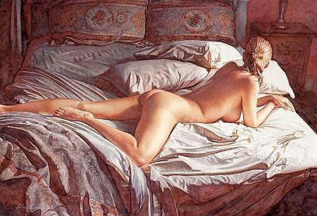 STEVE HANKS (American , b. 1949) Waking Up, 2005 Waterc
