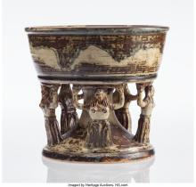 Bode Willumsen (Danish, 1895-1987) Danaïd Bowl, Royal Copenhagen Sung-glazed sto