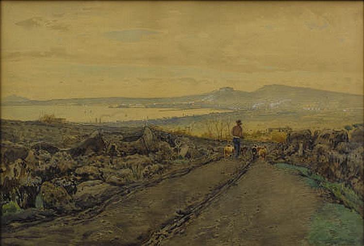 EDUARDO MONTEFORTE (Italian 1849-1933) Homeward