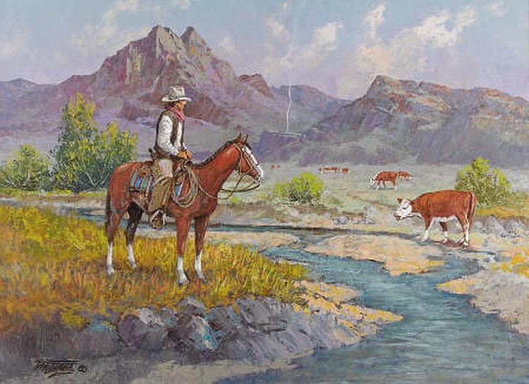 Fred Oldfield (American b. 1918) Range Detective ,